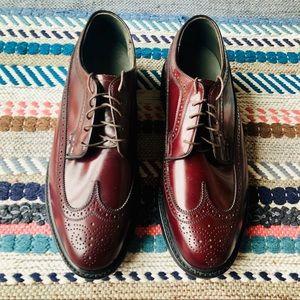 Vintage Dexter Maroon Longwing Bulcher Derby Shoe